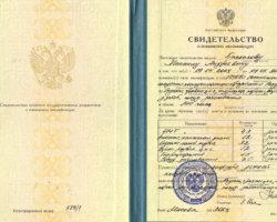 Свидетельство Баскаков М.А.